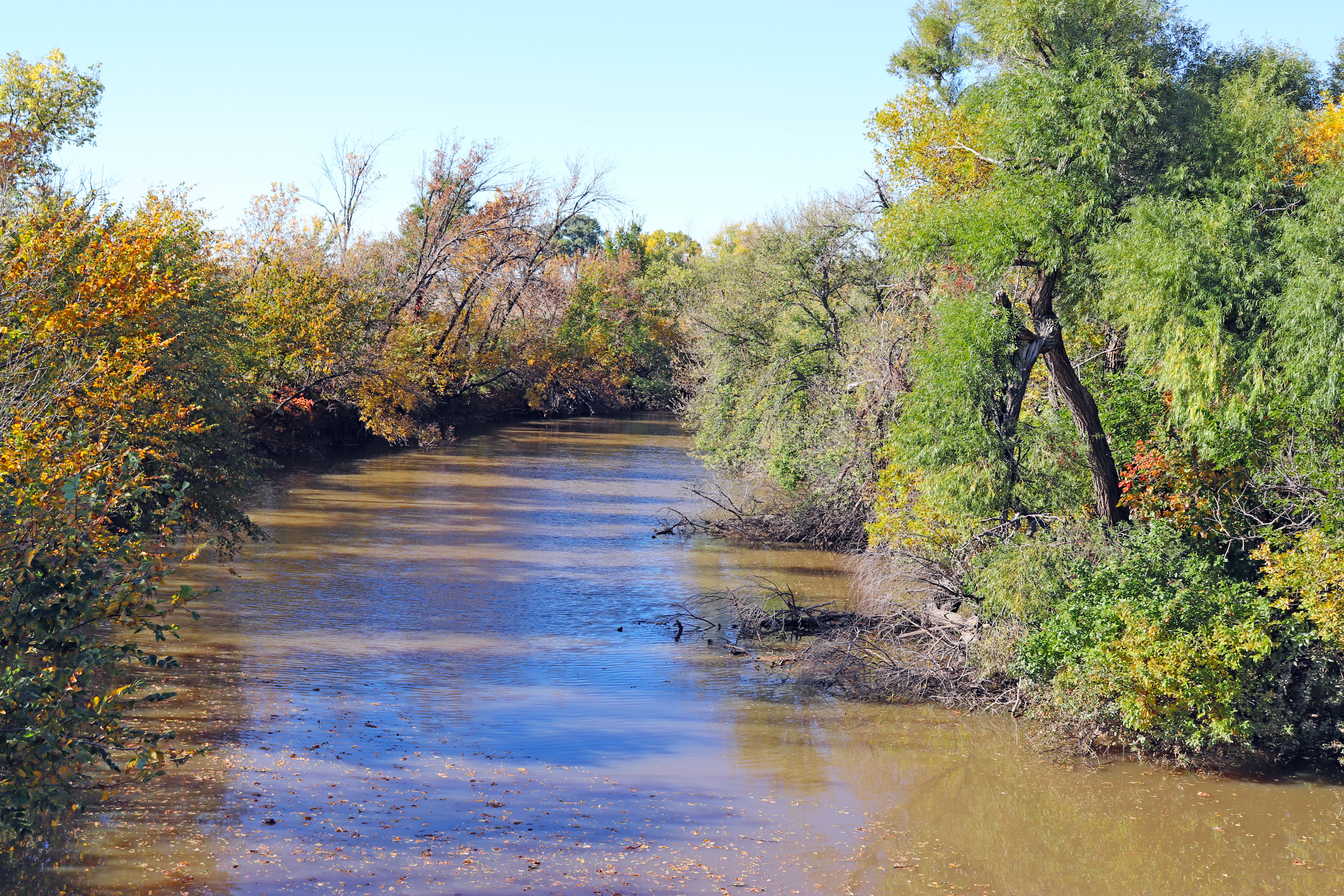 Pawnee River at Fort Larned National Historic Site.