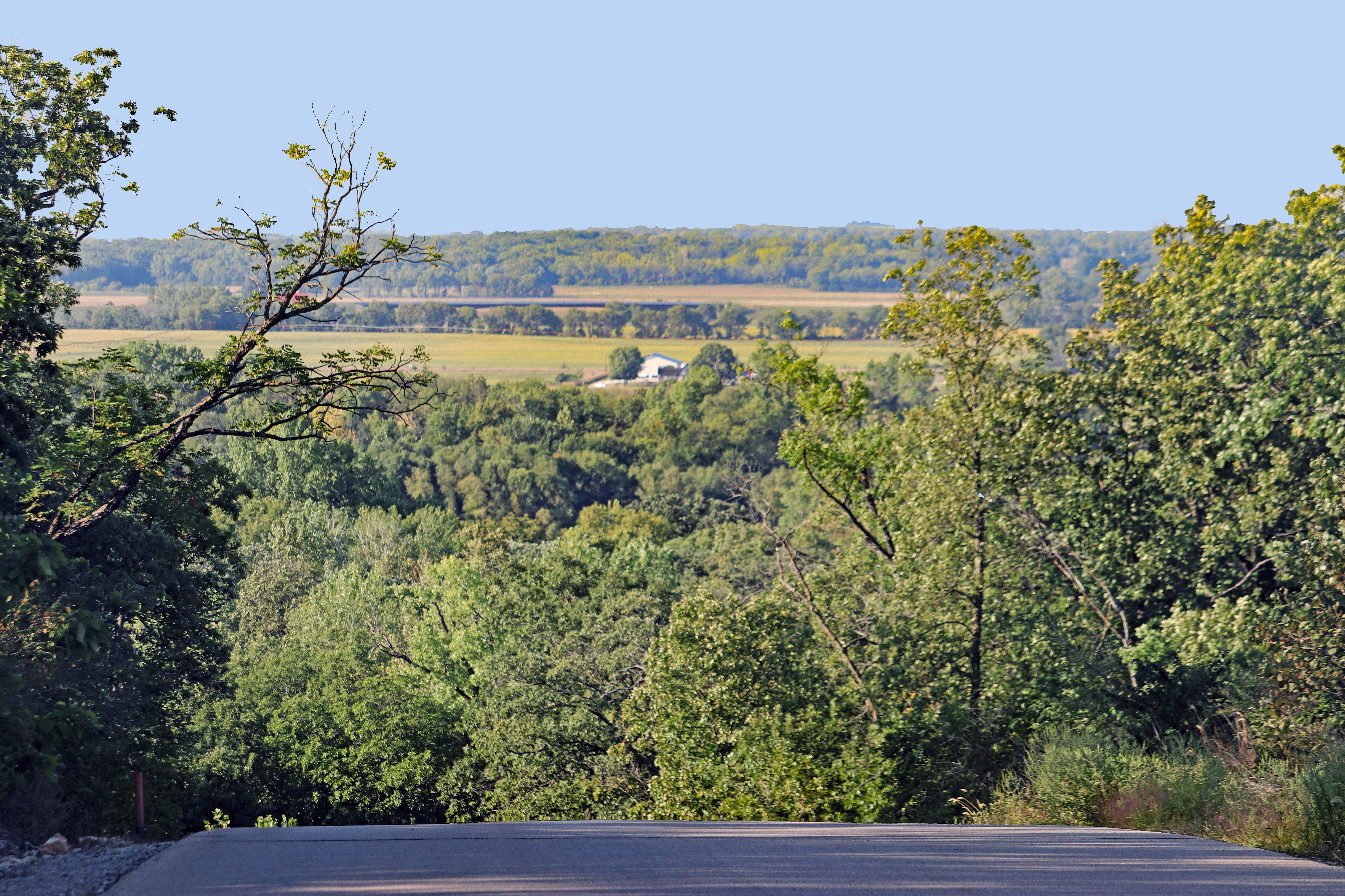 Overlooking the Kansas River valley north from Kaw River State Park.