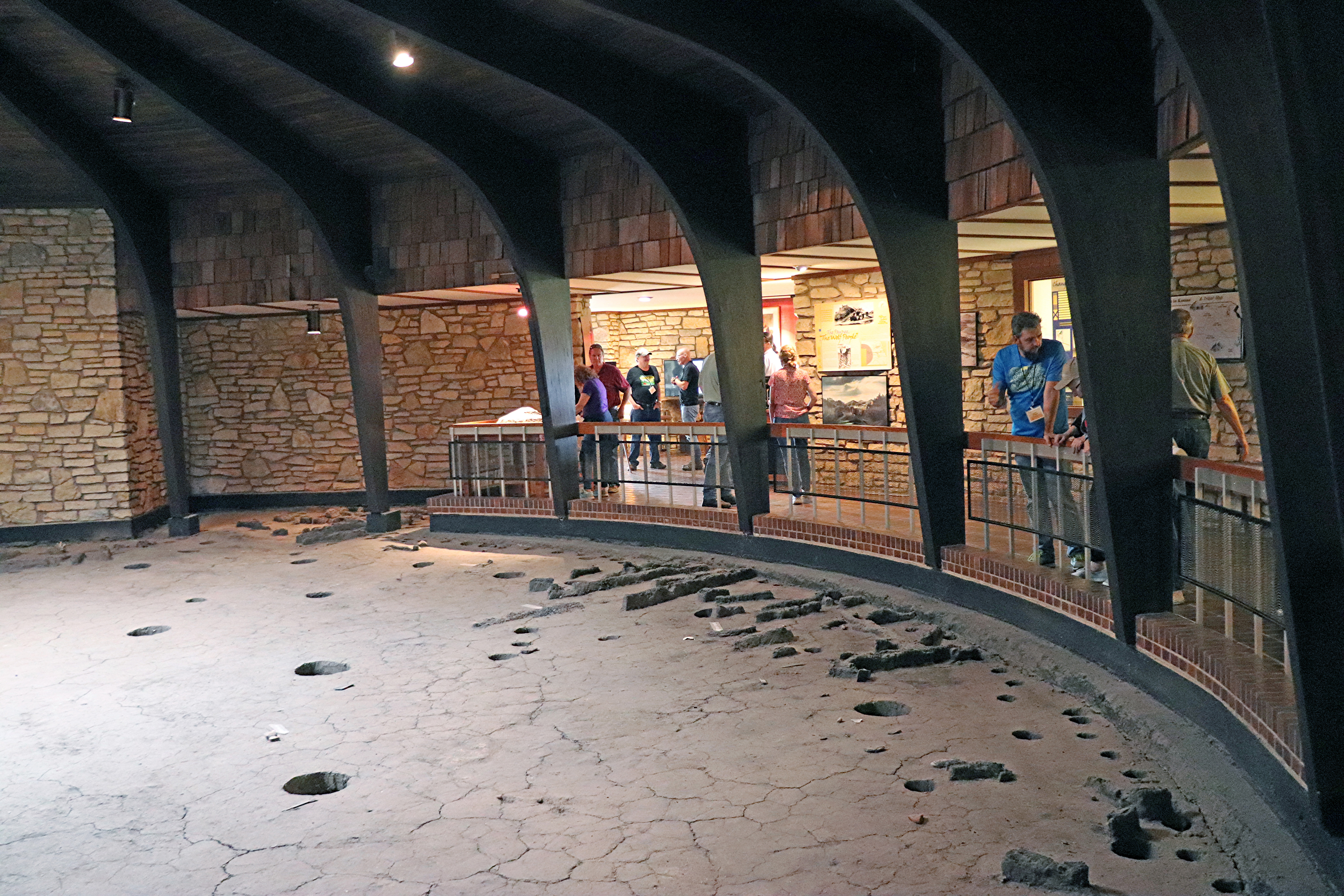 Excavated earth lodge in the Pawnee Indian Museum.