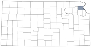 Atchison County locator map