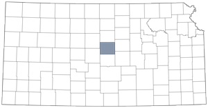 Ellsworth County locator map