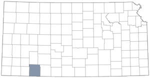 Meade County locator map