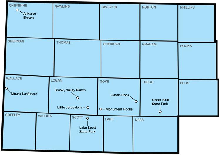 Little Jerusalem Kansas Map.Explore Northwest Kansas Geokansas