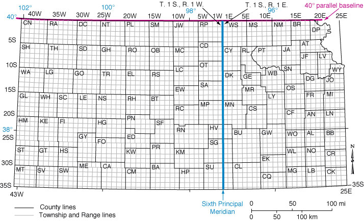 land ownership map kansas Public Land Survey System Geokansas land ownership map kansas