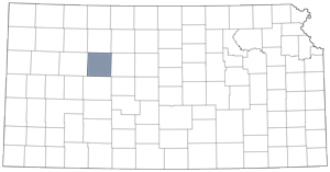 Trego County locator map